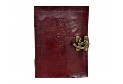 Classic Beautiful Cross Religious View Handmade Cotton Paper Leather Journal dairy